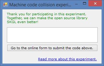 Machinecode experiment